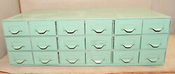 18 Drawer Lyon Industrial Parts Cabinet Jewelers Watch Makers Metal Storage Box