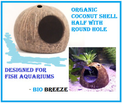 Organic Bold Coconut Shell With Round Hole, Designed For Fish Aquariums- Grade 1