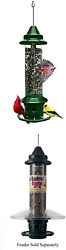 Brome 1024 Squirrel Buster Plus Wild Bird Feeder With Cardinal Perch Ring...