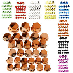 Colorful Motorbike Shock Absorption Reduction Screws Nuts Bolts Cover For