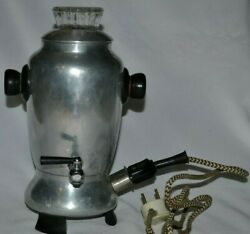 Electric Vintage Percolator Coffee Pot Maker Cup Works Espresso Smooth Heating