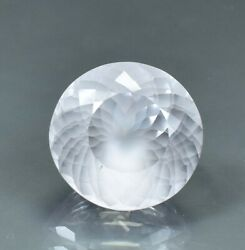 Flawless 55.95 Ct Natural White Montana Sapphire Perfect Round Cut Git Certified