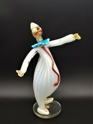 1950s Fratelli Toso Murano Glass Sculpture Of A Clown - Published Free Shipping