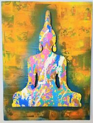 Colorful Chakra Contemporary Pop Art Sculptural Painting By Enrico Cecotto.
