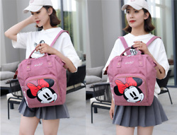 Multi use Minnie Large Mummy Baby Diaper Nappy Backpack Mom Changing Travel Bag $19.99