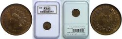 1870 Indian Head Cent Ngc Ms-65 Bn S-28