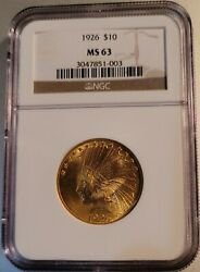 1926 10 Pcgs Ms 63 Indian Head Gold Eagle Nice Clean