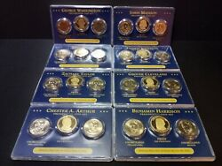 Presidential Dollar 3 Coin Proof Set 8 Sets No Dupes 2007-2012