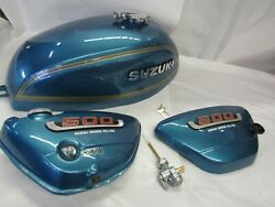Suzuki T500 Show Quality Tank And Side Cover 1975 T500m