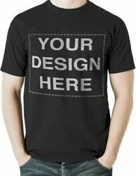 Black Custom T-shirt Send Image And Size To Me By Contacting On Ebay