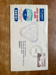 1955 Cocos Island First Day Cover Fdc To Sydney Australia First Stamp Issue