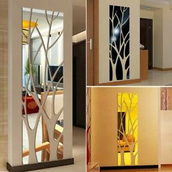 Wall Wall Stickers 3D DIY Home Mirror Mural Removable Tree High Quality
