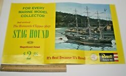 1962 Revell Model Kit Stag Hound Clipper Ship Store Sign Display Poster