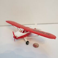 Vintage Plastic Hubley Piper Prop Plane Airplane Toy N7019b Red White