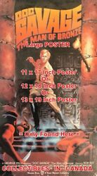 Doc Savage Vhs Tape Cover Not Clam Shell =poster Comic Book 3 Sizes 17-18-19