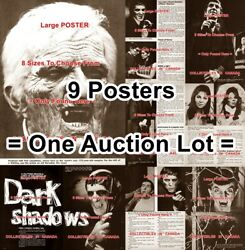 Dark Shadows 1968 Barnabas Daytime Dracula Tv Show = 9 Posters 8 Sizes 17 - 3ft
