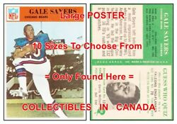 Gale Sayers 1966 Chicago Bears = Poster Football Card 10 Sizes 17 - 4.5 Feet