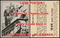 War News Pictures 1939 Gas Mask British Tank =poster Trading Card 8sizes 17-3ft