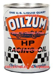 Oilzum Race Car F1 / Indy Champions = Poster Motor Oil Can 3 Sizes 17-18-19
