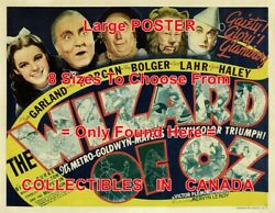 Wizard Of Oz 1939 1 Tc Musical = Movie Poster Lobby Card 8 Sizes 17 - 3 Feet