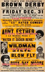 Brown Derby 1980's Lawanda Rudy Ray Moore = Comedy Poster 10 Sizes 17-5 1/2 Ft