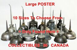19 Vintage Oil Canand039s Automobile Artwork = Poster Oil Cans 10 Sizes 17 - 5.5 Ft