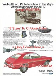 Ford Pinto 1973 Sedan W/w Tires Deluxe Bumper = Poster Car Ad 8 Sizes 17 - 41