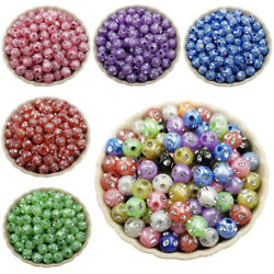 40pcs 8mm Diamond Crystal Loose Beads Diy For Jewelry Making Candy Color Pendant