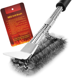 Bbq Grill Brush Scrubber Barbecue Cleaning Tool Stainless Steel Wire Cleaner New