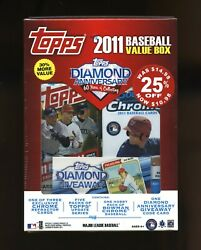 2011 Topps Update Factory Sealed Baseball Value Box And Bowman Chrome Packs Trout
