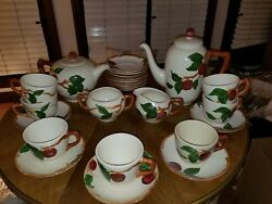 Franciscan Earthenware Dinnerware Set - Apple Pattern With Many Serving Pieces