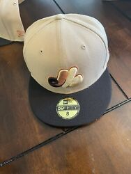 Montreal Expos New Era Flags Patch Camel 59fifty Fitted Hat – Brown Sz 8