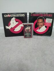 Vintage 1984 Ghostbusters Vinyl Records And Vhs Movie