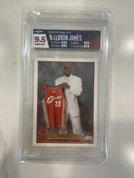 2003 Topps Lebron James Rc Hga 9.5 W Perfect 10 Centering Sorry Haters New King