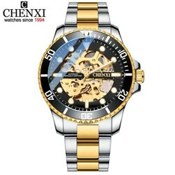 Chenxi Watches Gold Stainless Steel Fashion Automatic Fast Delivery Usa Gift New