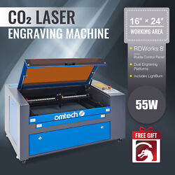 Co2 Laser Engraving Cutting Engraver Cutter Ruida 60w 24x16in Bed With Lightburn