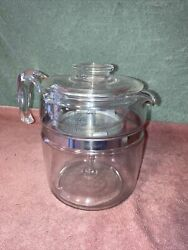 Vintage Pyrex Flameware Glass 6/9 Cup Coffee Pot Percolator 7759-h Complete