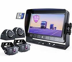 Erapta Backup Camera System 3.0 With 7'' Monitor For Rv Trucks Side/front/rea...