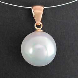 Pendant With Südsee-perle Ø 0 5/8in In 18k Rose Gold - 0.2oz