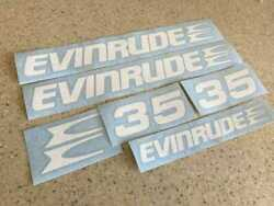 Evinrude Vintage Outboard Decals 35 Hp Die-cut Free Ship + Free Fish Decal