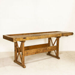 Antique Carpenter's Work Bench Rustic Work Table From Denmark