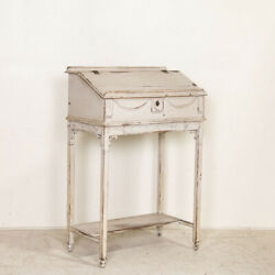 Antique Original White Painted Hostess Stand Standing Desk From Sweden