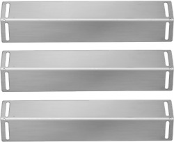 Folocy 16 1/2 Inch Grill Heat Plates Shield Burner Covers Bbq Gas Grill Replacem