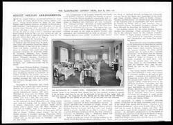 1914 Antique Print - Kent Margate Cliftonville Hotel Dining Room Tables 20