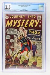 Journey Into Mystery 84 - Marvel 1962 Cgc 3.5 2nd Appearance Of Thor. 1st Appea