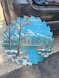 Vintage 25 Sawmill Blade Hand Painted 60s