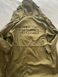 Givenchy Trench Coat For Men Sz 50 EU Large For USA Sizing New With Tags