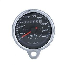 Universal Double Color Led Light Odometer Speedometer Km/h For Motorcy