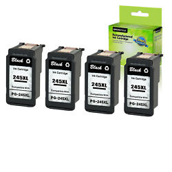 4pk Pg-245xl Black Ink Cartridge Compatible With Canon Pixma Mg2920 Tr4520 Ts302