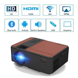 1080p Wifi Smart Projector Full Hd Android Bt Home Theater Movie Video Hdmi Zoom